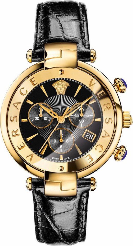 Versace Chronograph »RÊVIVE, VAJ040016« in schwarz