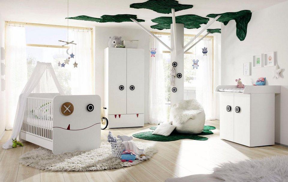 now! by hülsta Komplett Babyzimmer »now! minimo« (5-tlg) in schneeweiß