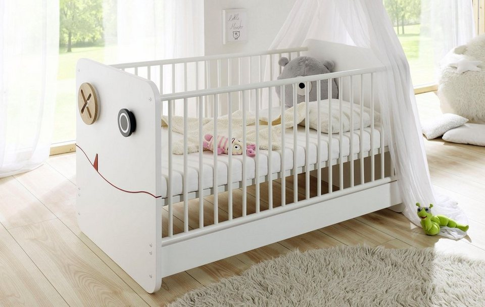 now by h lsta babybett now minimo umbaubar zum juniorbett online kaufen otto. Black Bedroom Furniture Sets. Home Design Ideas