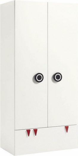 now! by hülsta Kleiderschrank »now! minimo« mit schwarzen Augengriffen und Schublade, Breite 90 cm