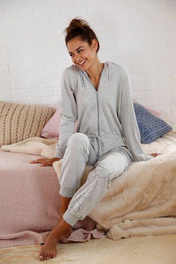 NICI Home Jumpsuit mit Schaf-Print am Bein
