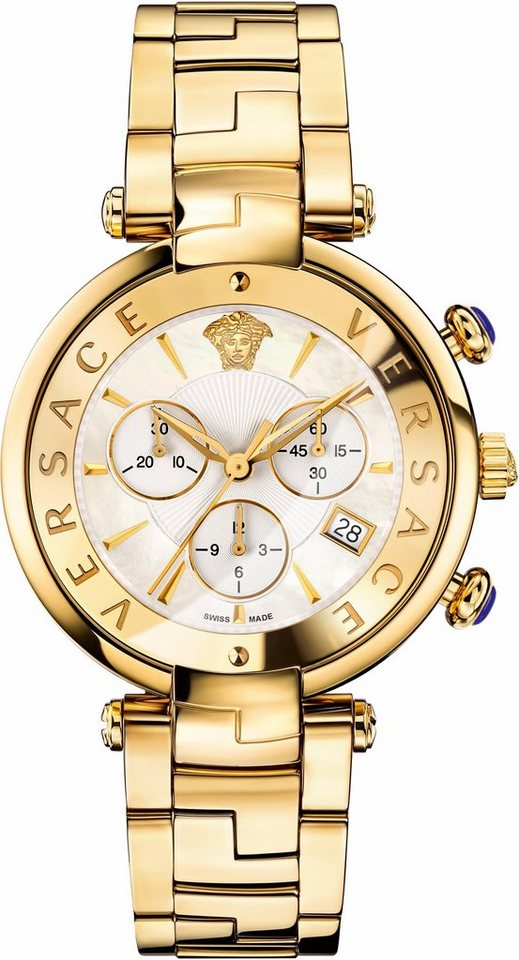 Versace Chronograph »RÊVIVE, VAJ060016« in goldfarben