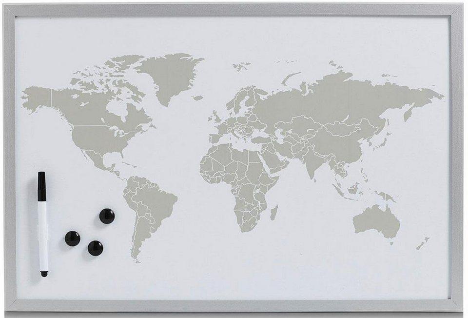 Home affaire Magnet-/Schreibtafel »World« in grau