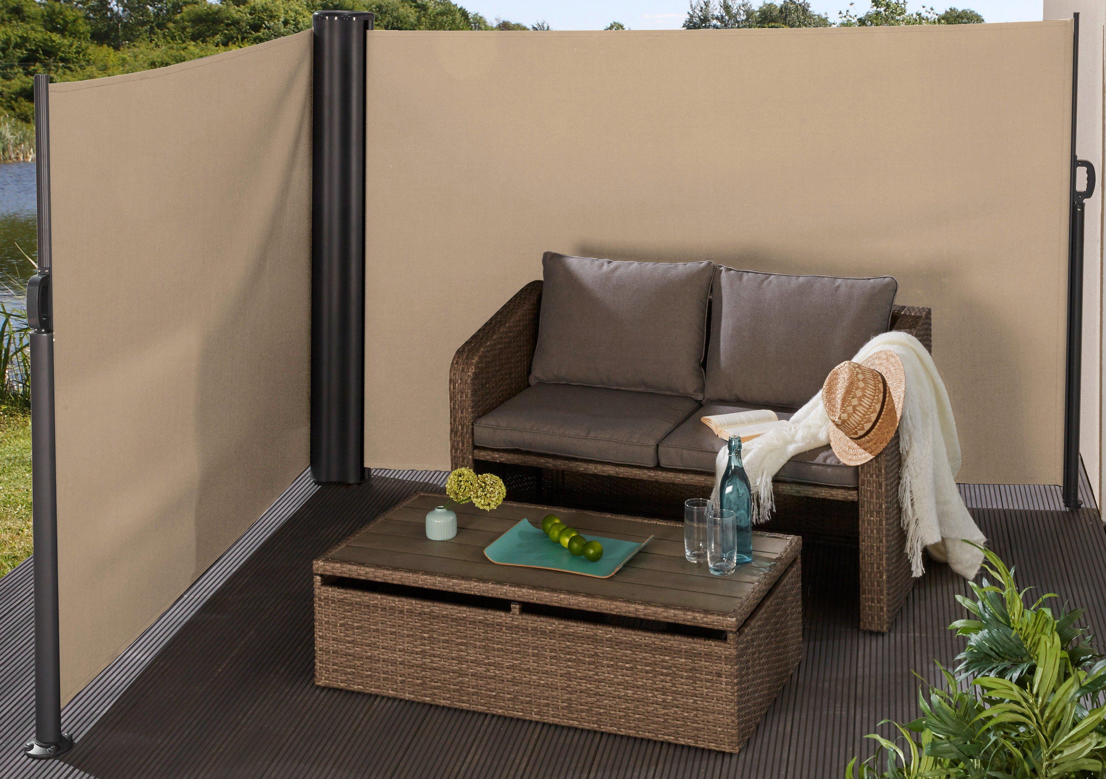 preisvergleich sichtschutz seitenmarkise creme bxh. Black Bedroom Furniture Sets. Home Design Ideas