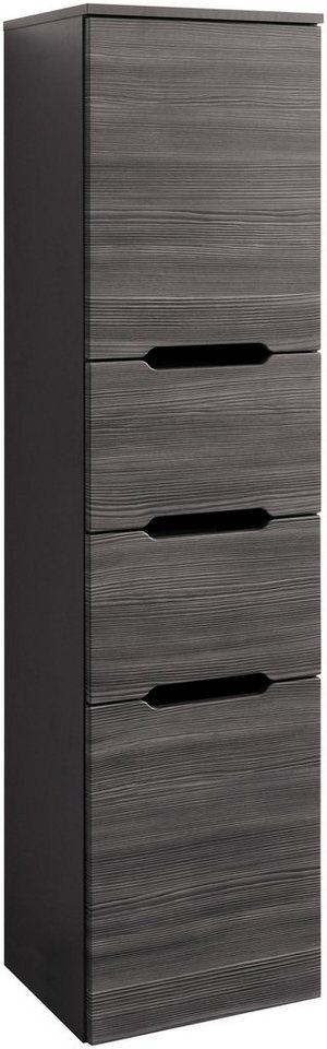 Held Möbel Seitenschrank »Belluno«, Breite 40 cm in anthrazit/graphitfarben