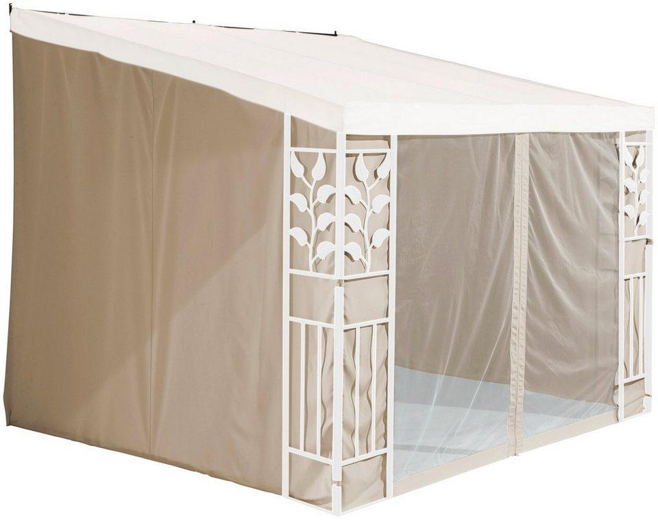 konifera seitenteile f r anbaupavillon salina 2 3x3 m 3x4 m sandfarben online kaufen otto. Black Bedroom Furniture Sets. Home Design Ideas