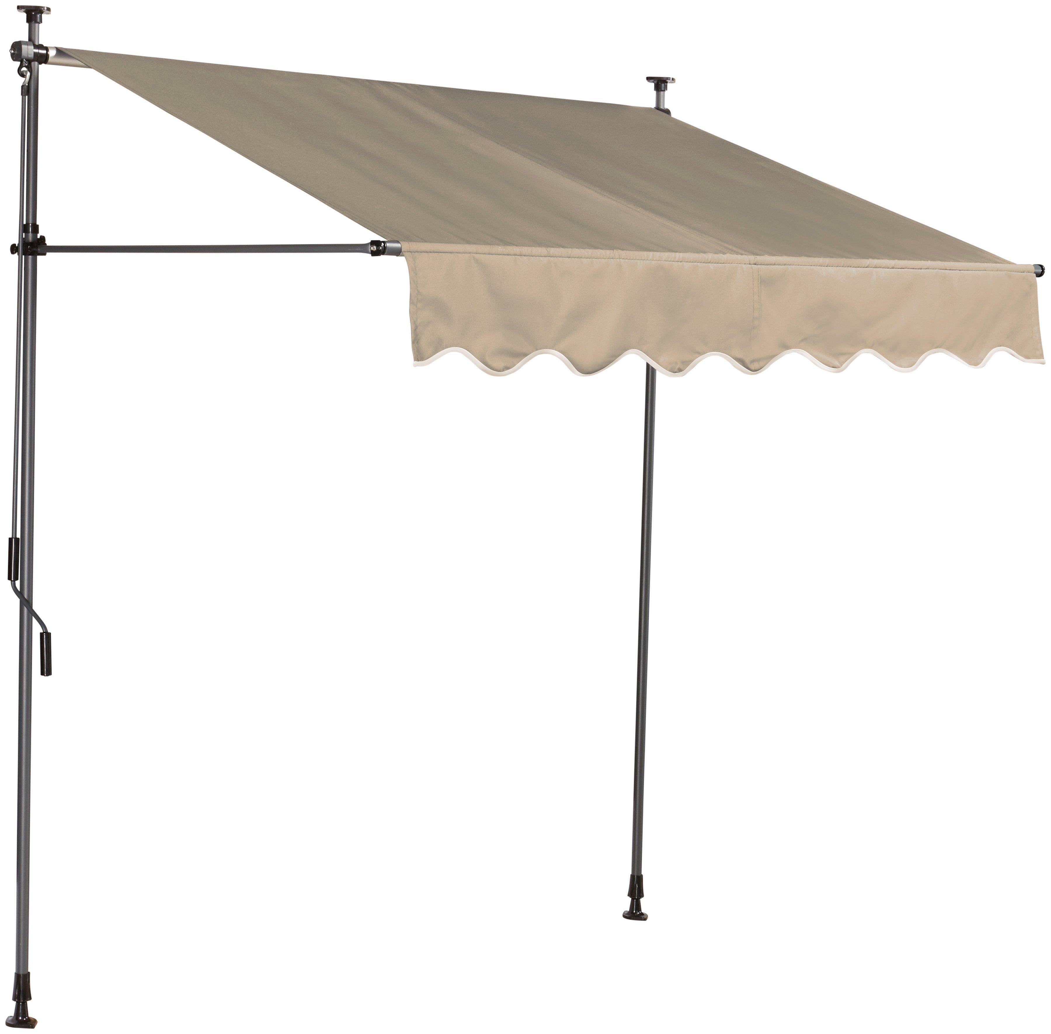 Klemmmarkise , sandfarben, Breite: 300 cm
