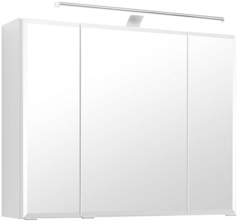 Held Möbel Spiegelschrank »Fontana« Breite 80 cm, mit LED-Beleuchtung in weiß