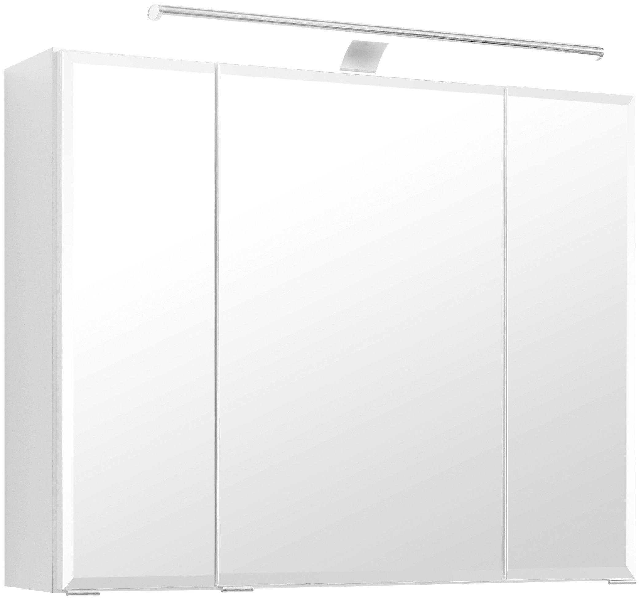 Spiegelschrank »Fontana« Breite 80 cm, mit LED-Beleuchtung