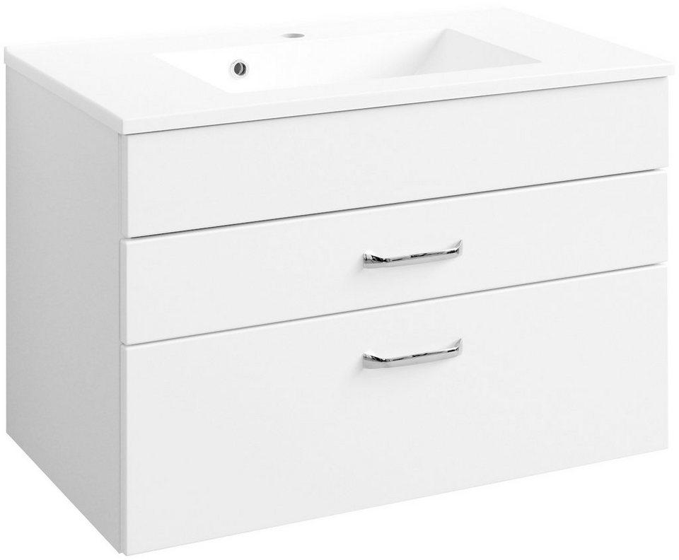 HELD MÖBEL Waschtisch »Fontana«, Breite 80 cm, (2-tlg.) in weiß