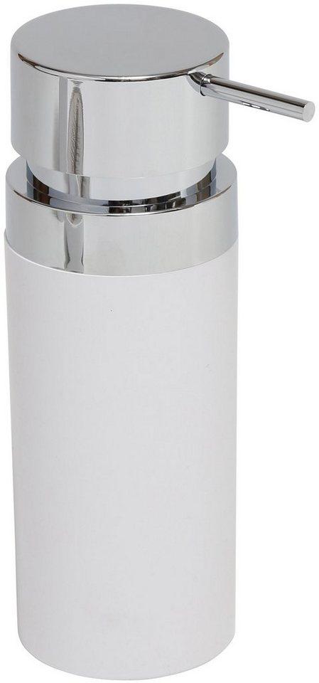 Seifen- oder Cremespender in weiß