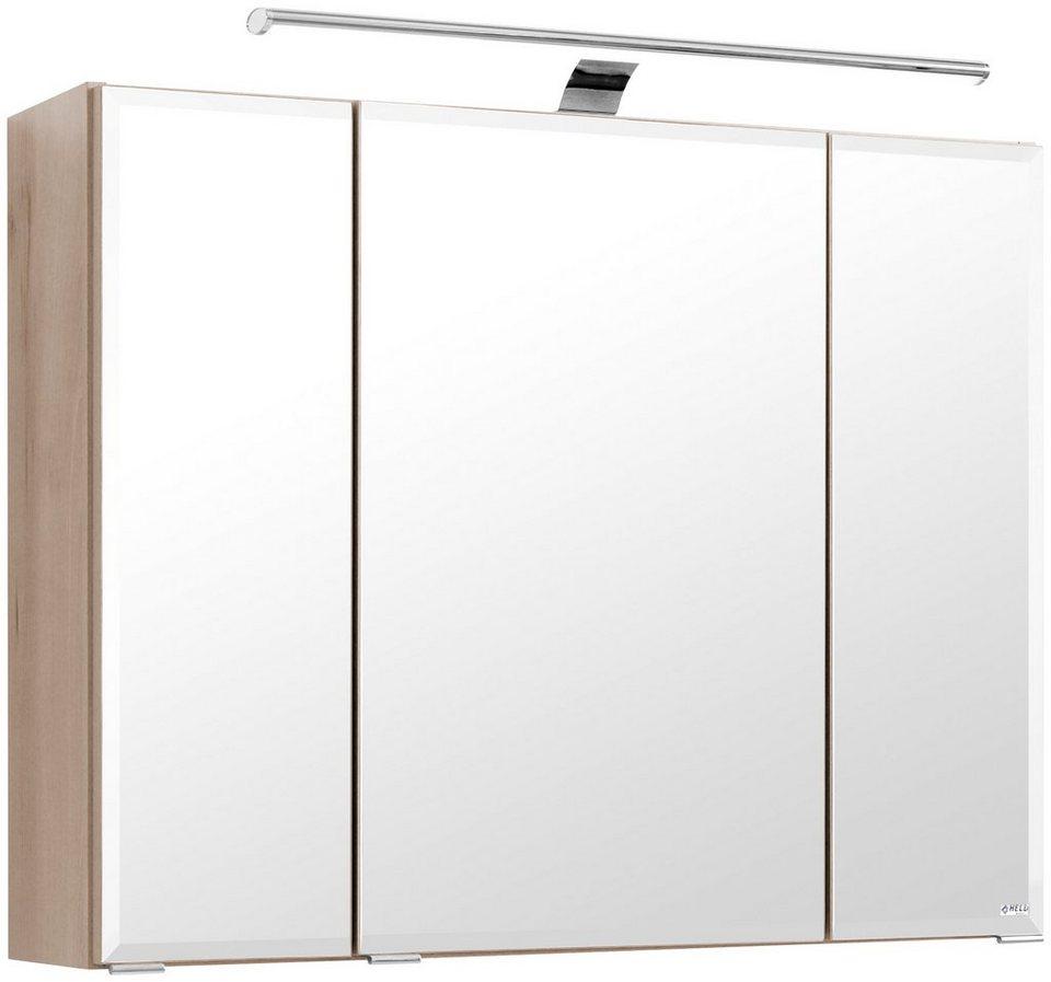 Spiegelschrank »Belluno« Breite 80 cm, mit LED-Beleuchtung in buchefarben