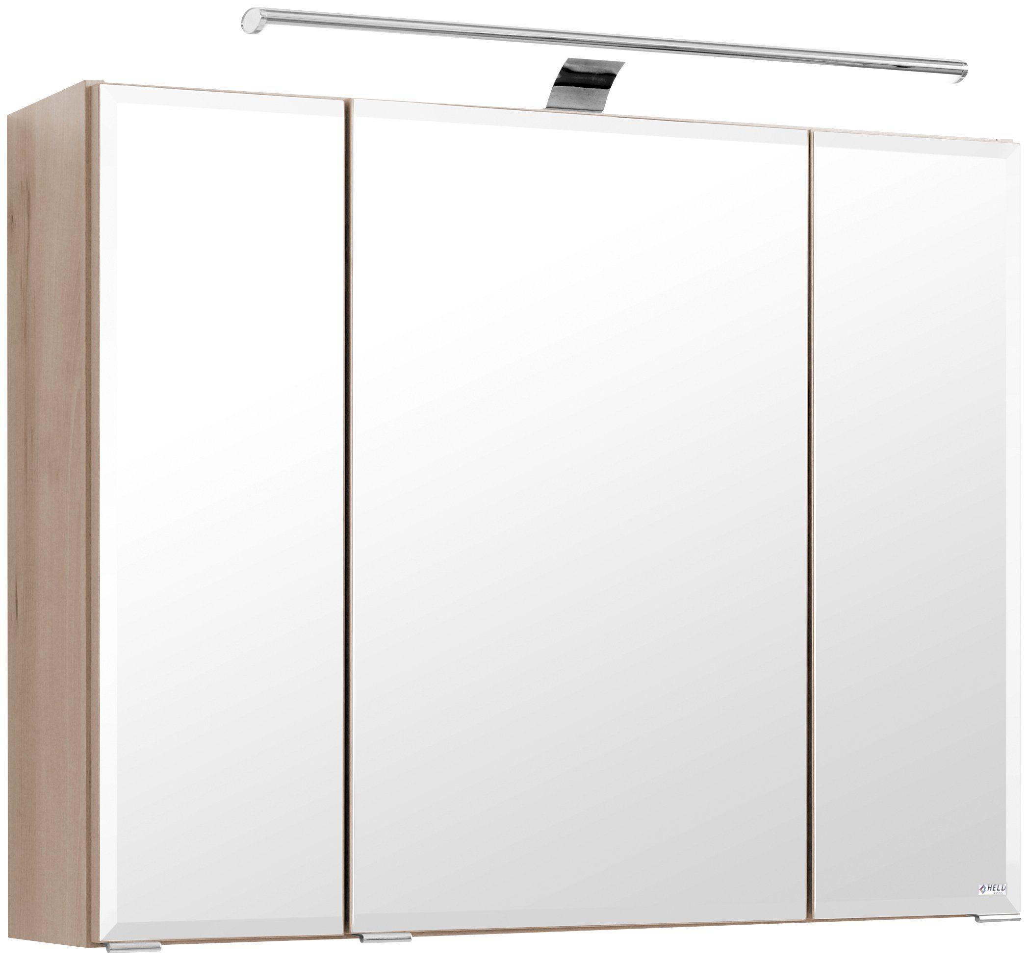 Held Möbel Spiegelschrank »Belluno« Breite 80 cm, mit LED-Beleuchtung