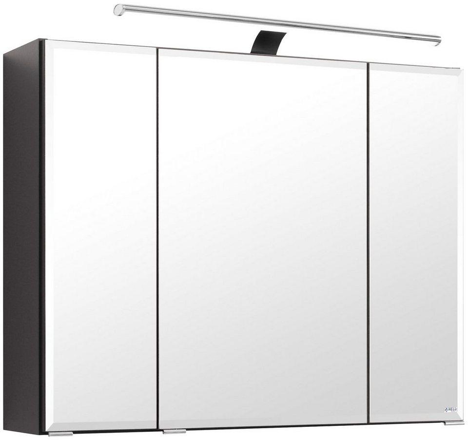 Spiegelschrank »Fontana« Breite 80 cm, mit LED-Beleuchtung in graphitfarben