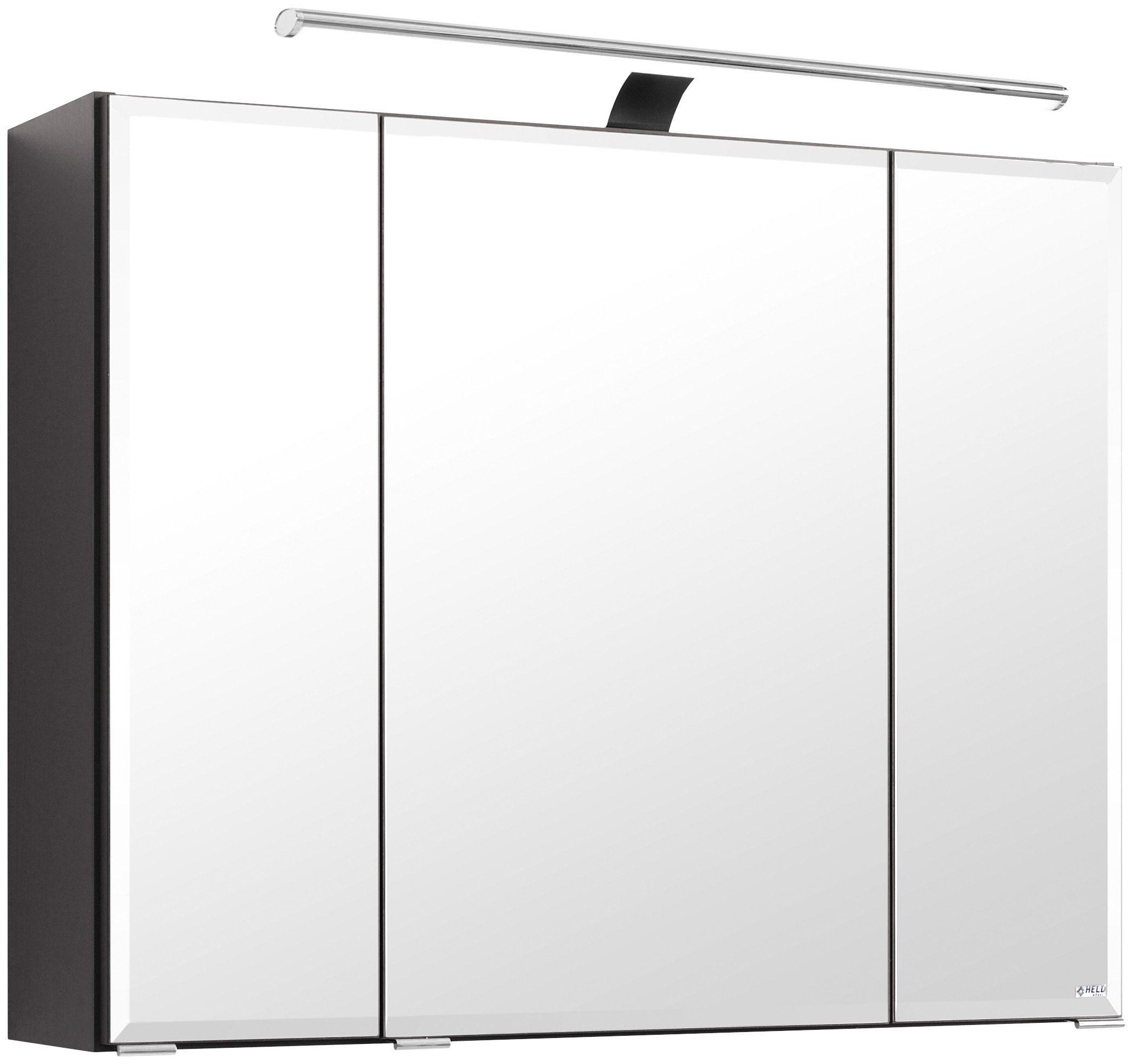 Held Möbel Spiegelschrank »Fontana« Breite 80 cm, mit LED-Beleuchtung