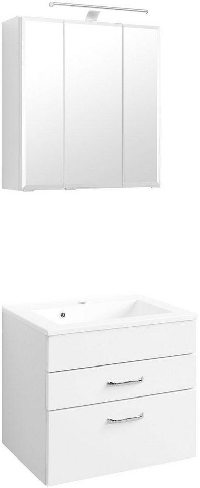 Held Möbel Badmöbel-Set »Fontana«, Breite 60 cm in weiß x weiß