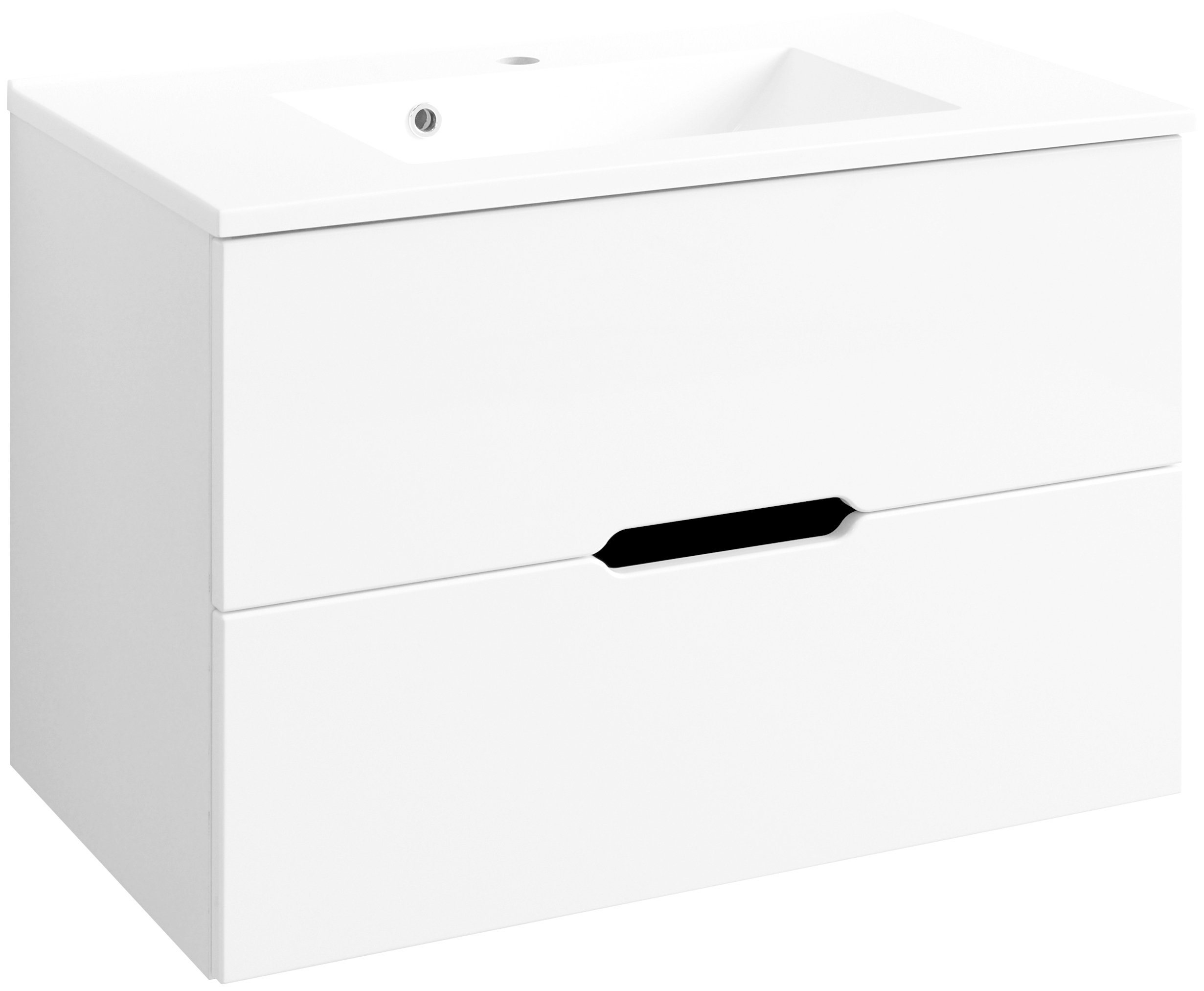 HELD MÖBEL Waschtisch »Belluno «, Breite 80 cm, (2-tlg.) | Bad > Badmöbel > Badmöbel-Sets | Spanplatte | HELD MÖBEL