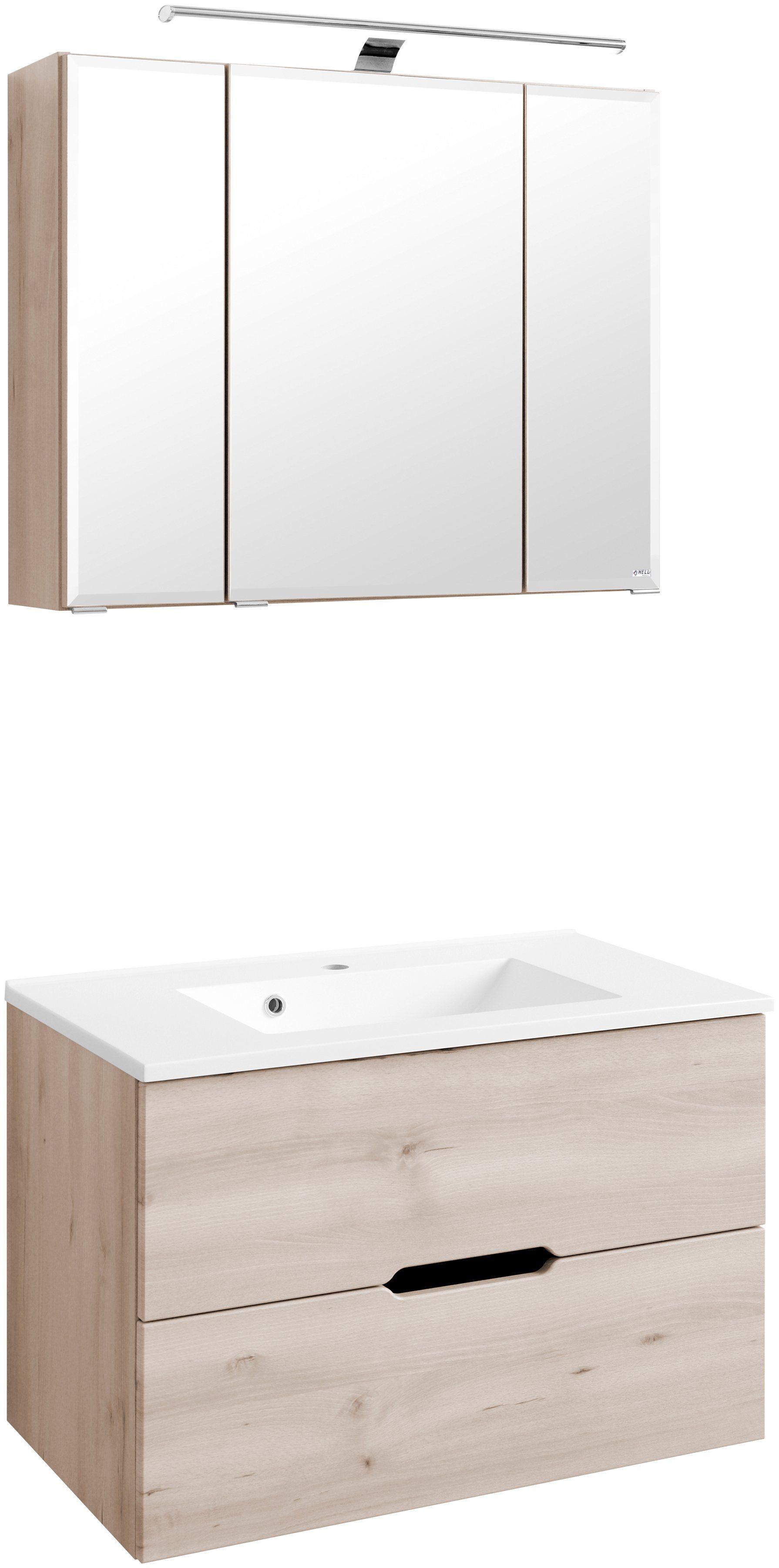 Held Möbel Waschplatz-Set »Belluno«, Breite 80 cm