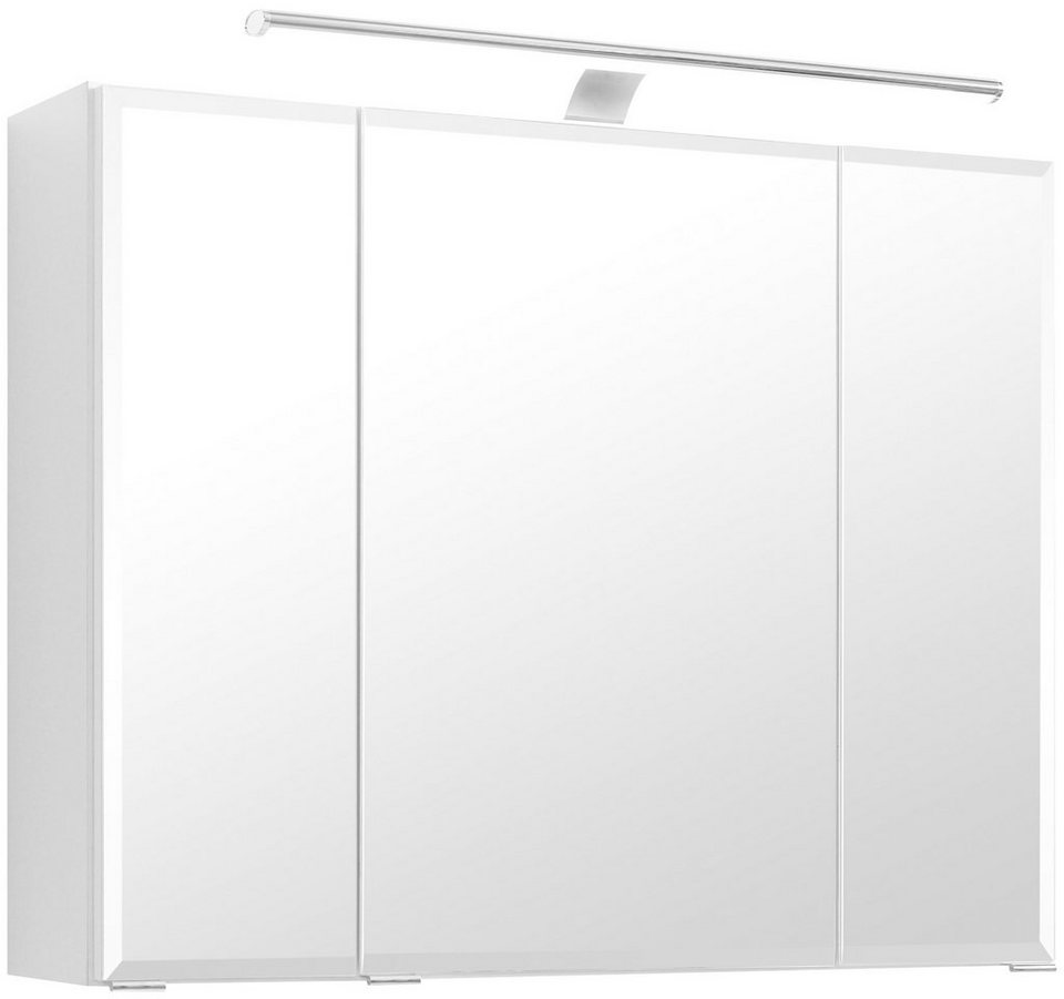 Spiegelschrank »Belluno« Breite 80 cm, mit LED-Beleuchtung in weiß