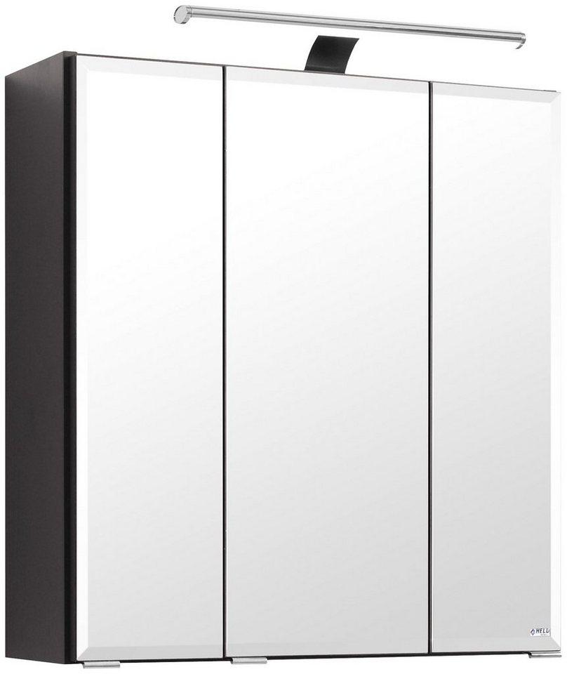 Spiegelschrank »Fontana« Breite 60 cm, mit LED-Beleuchtung in graphitfarben