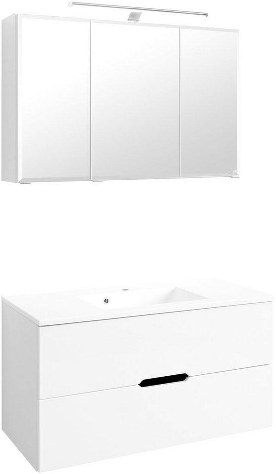 Waschplatz-Set »Belluno«, Breite 100 cm in weiß