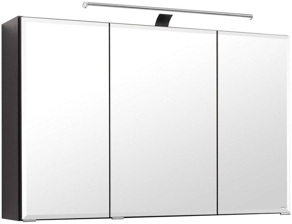 Held Möbel Spiegelschrank »Fontana« Breite 100 cm, mit LED-Beleuchtung in graphitfarben