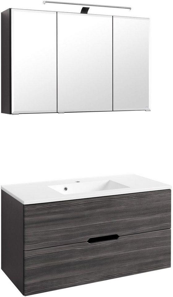 Waschplatz-Set »Belluno«, Breite 100 in anthrazit/graphitfarben