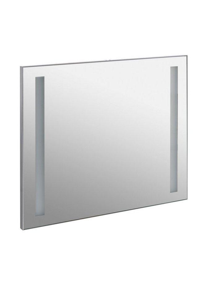 Spiegel / Badspiegel »Irene« Breite 70 cm, mit Beleuchtung in alufarben