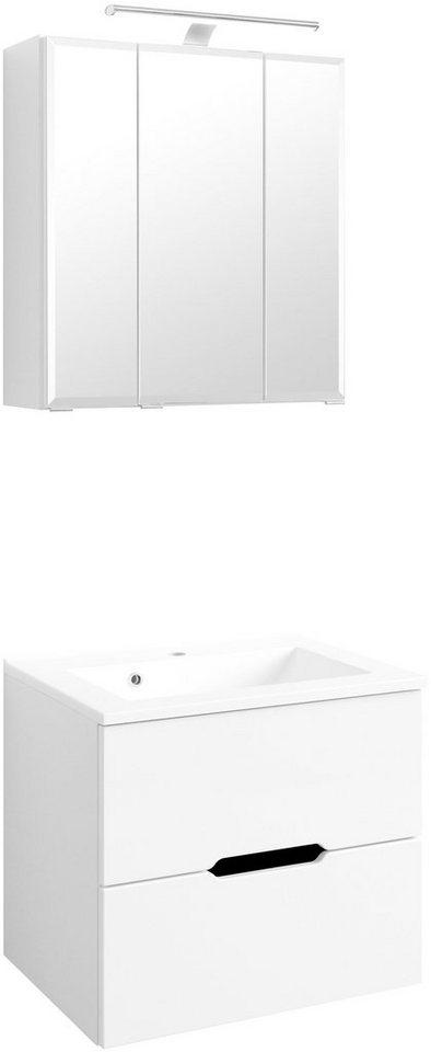 Waschplatz-Set »Belluno«, Breite 60 cm in weiß