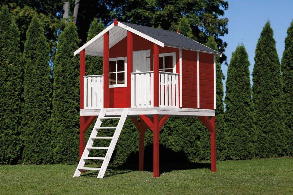 scheffer outdoor toys stelzenhaus tobi rot b t h 180 197 281 cm online kaufen otto. Black Bedroom Furniture Sets. Home Design Ideas