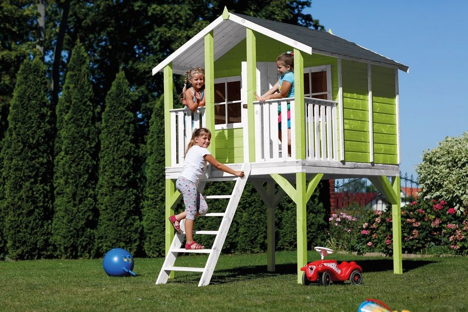 scheffer outdoor toys stelzenhaus tobi gr n b t h 180. Black Bedroom Furniture Sets. Home Design Ideas