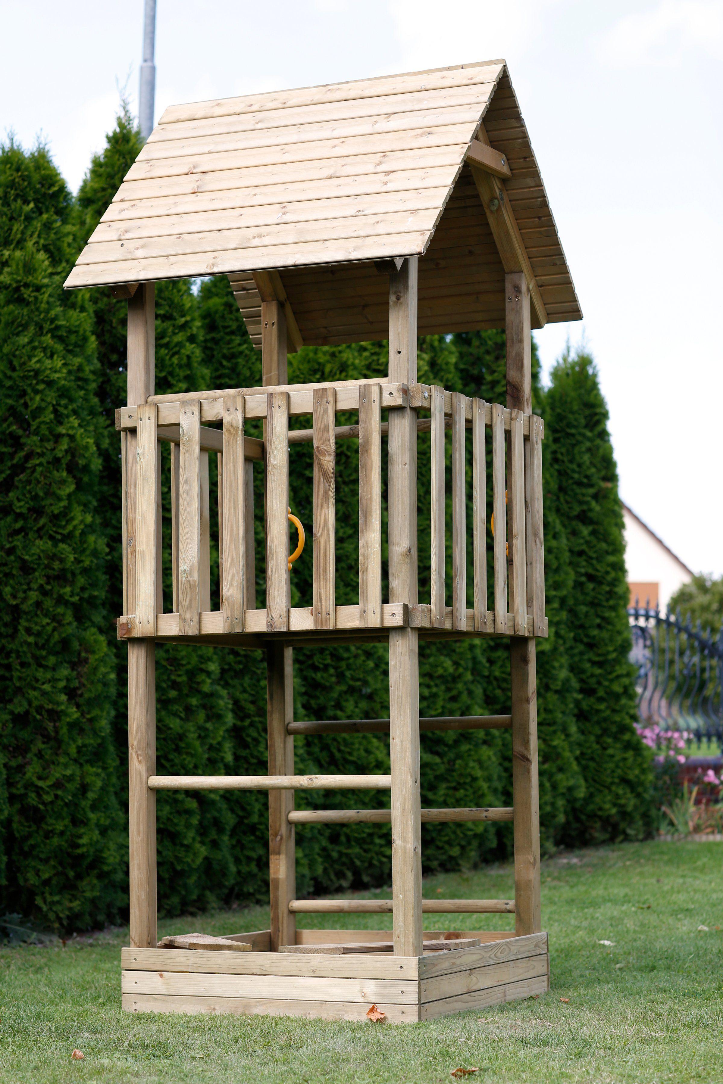 SCHEFFER OUTDOOR TOYS Spielturm »Anna«, B/T/H: 102/102/302 cm
