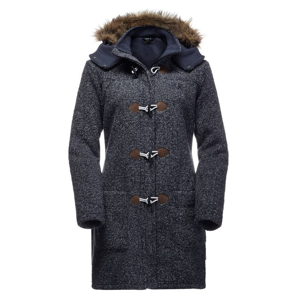 Jack Wolfskin Fleecejacke »MILTON COAT WOMEN« in night blue