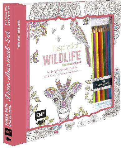 Broschiertes Buch »Kreativ-Set Farbe rein, Stress raus:...«