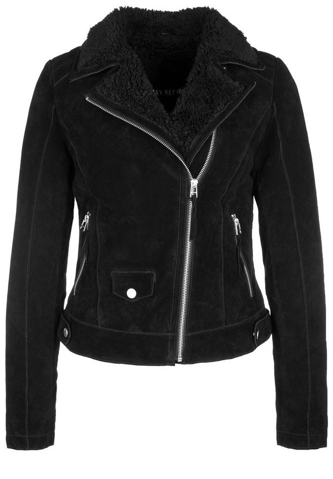 Freaky Nation Lederjacke »TEDDYGIRL« in black/black