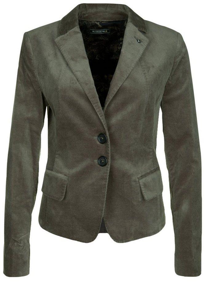 Blonde No.8 Jersey-Blazer »NIZZA VELVET« in taupe