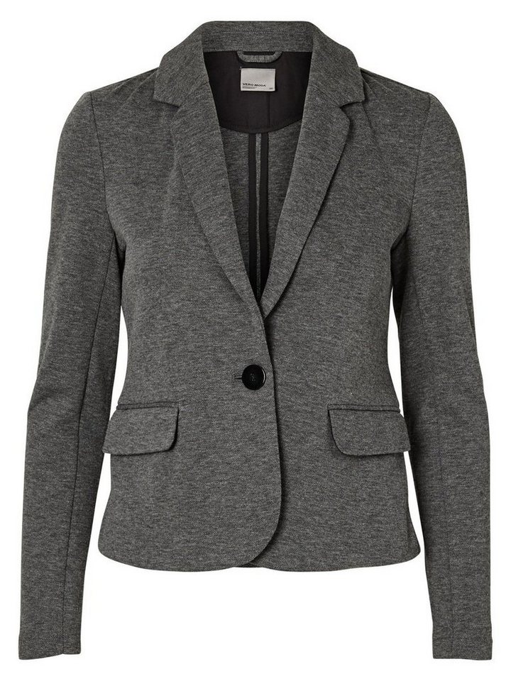 Vero Moda Langärmeliger Blazer in Medium Grey Melange