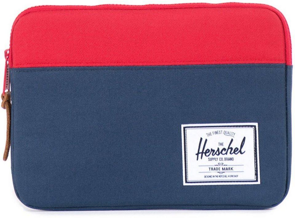 Herschel Tablet Tasche, »Anchor Sleeve, iPad Air, Navy/Red« in Navy/Red
