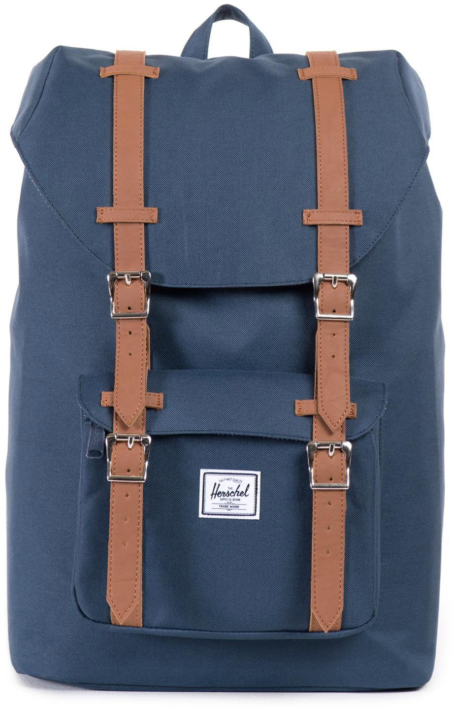 Herschel Rucksack mit Laptopfach, »Little America, Navy, Mid Volume«