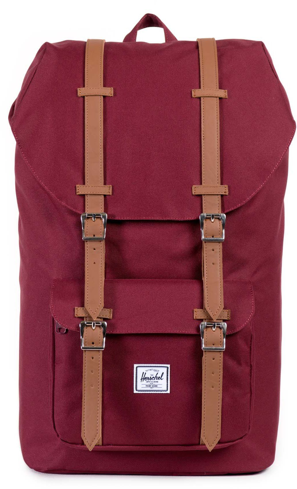 Herschel Rucksack mit Laptopfach, »Little America Backpack Windsor Wine«