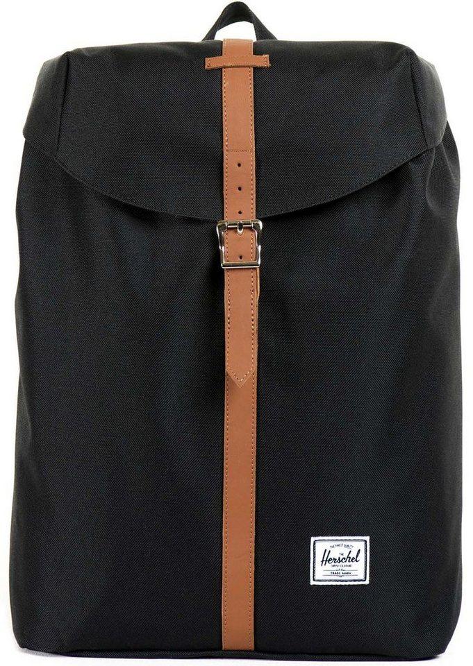Herschel Rucksack mit Laptopfach, »Post Backpack, Black, Mid Volume« in Black