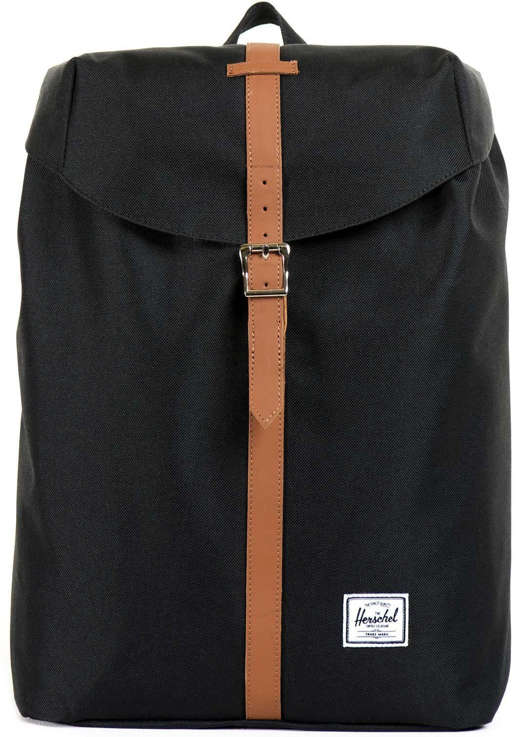 Herschel Rucksack mit Laptopfach, »Post Backpack, Black, Mid Volume«