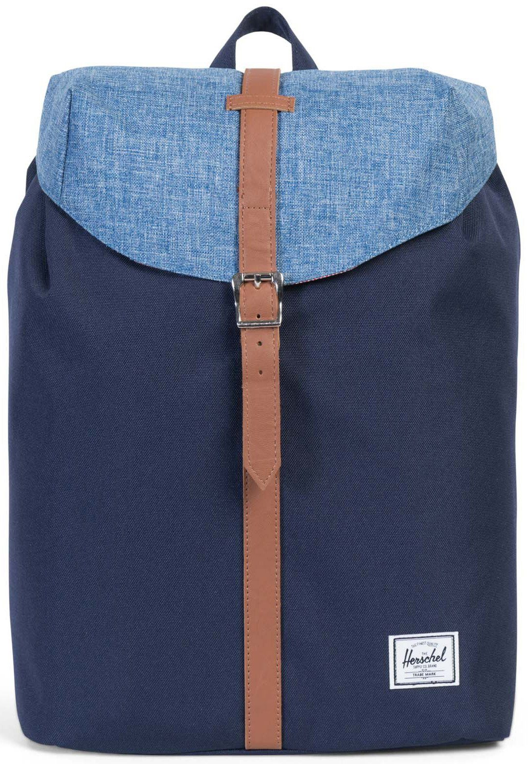 Herschel Rucksack mit Laptopfach, »Post Backpack, Peacoat/Limoges, Crosshatch, Mid Volume«