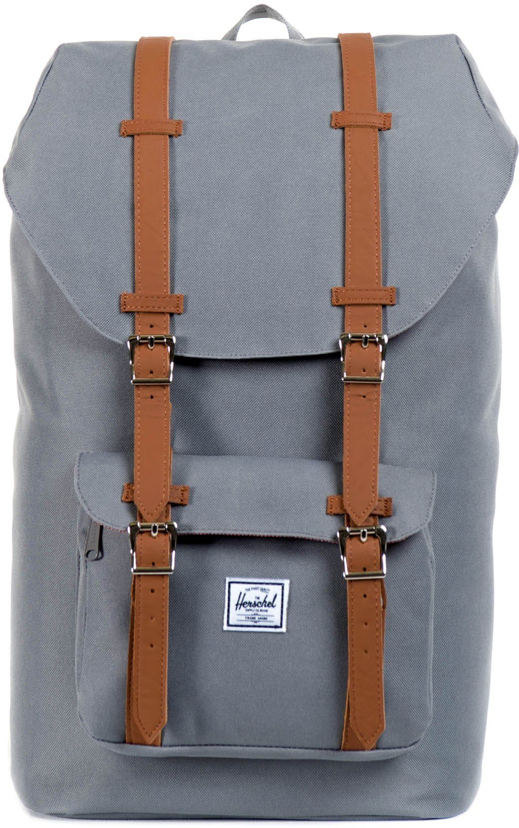 Herschel Rucksack mit Laptopfach, »Little America Backpack, Grey«