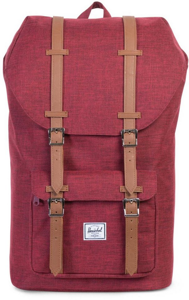 Herschel Rucksack mit Laptopfach, »Little America Backpack, Winetasting Crosshatch« in Winetasting Crosshatch
