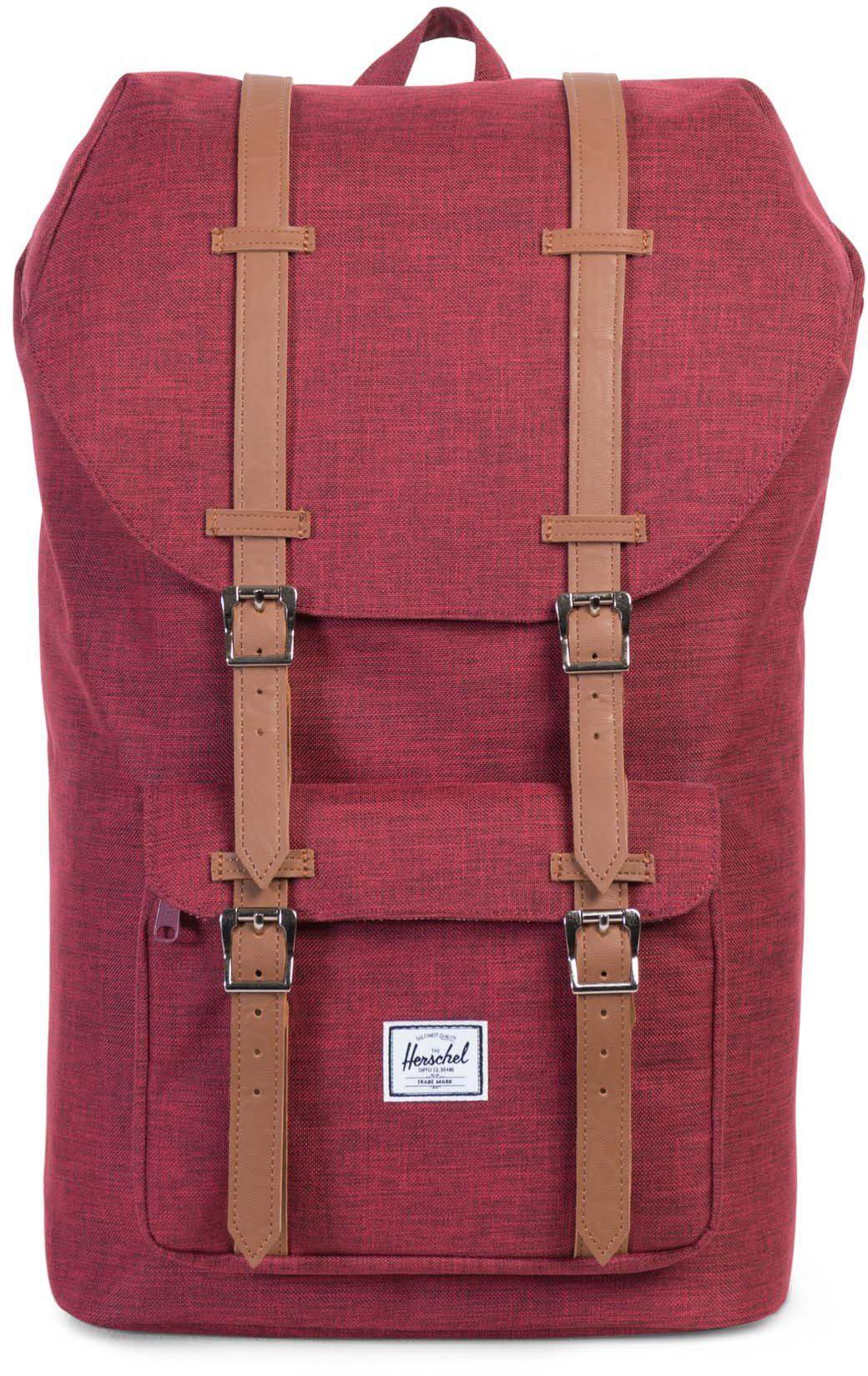 Herschel Rucksack mit Laptopfach, »Little America Backpack, Winetasting Crosshatch«