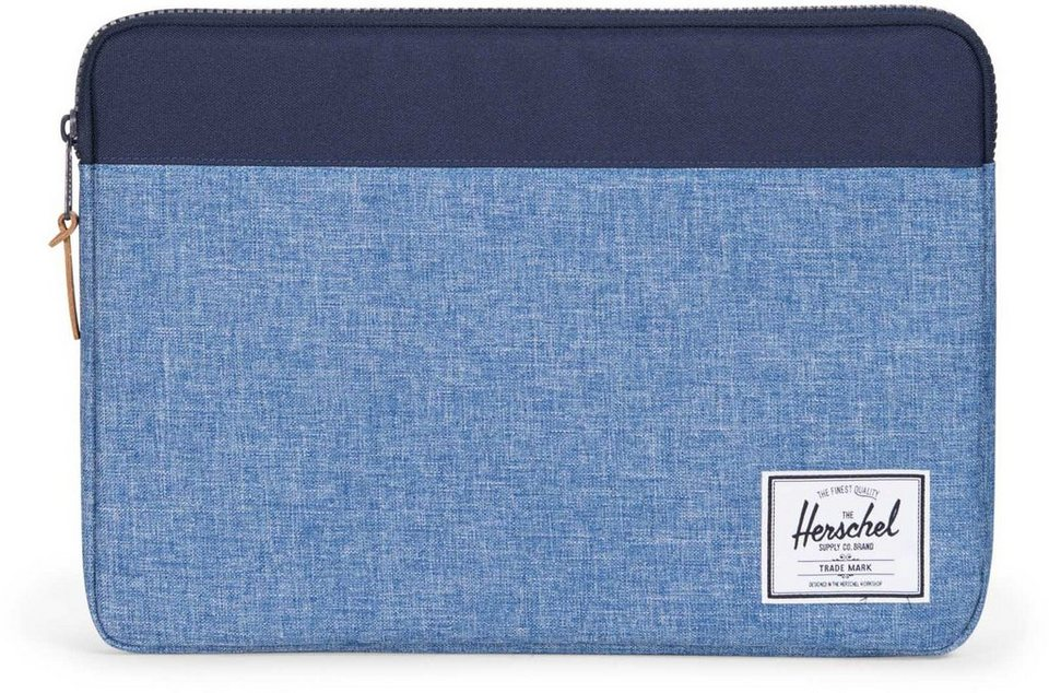 Herschel Notebook Hülle, »Anchor Sleeve, Macbook 15, Macbook Air/Pro, Peacoat/Limoges, Crosshatch« in Peacoat/Limoges