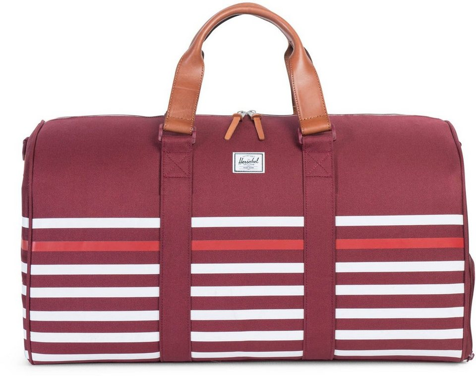 Herschel Reisetasche, »Novel Duffle, Stripe Veggie« in Stripe Windsor Wine