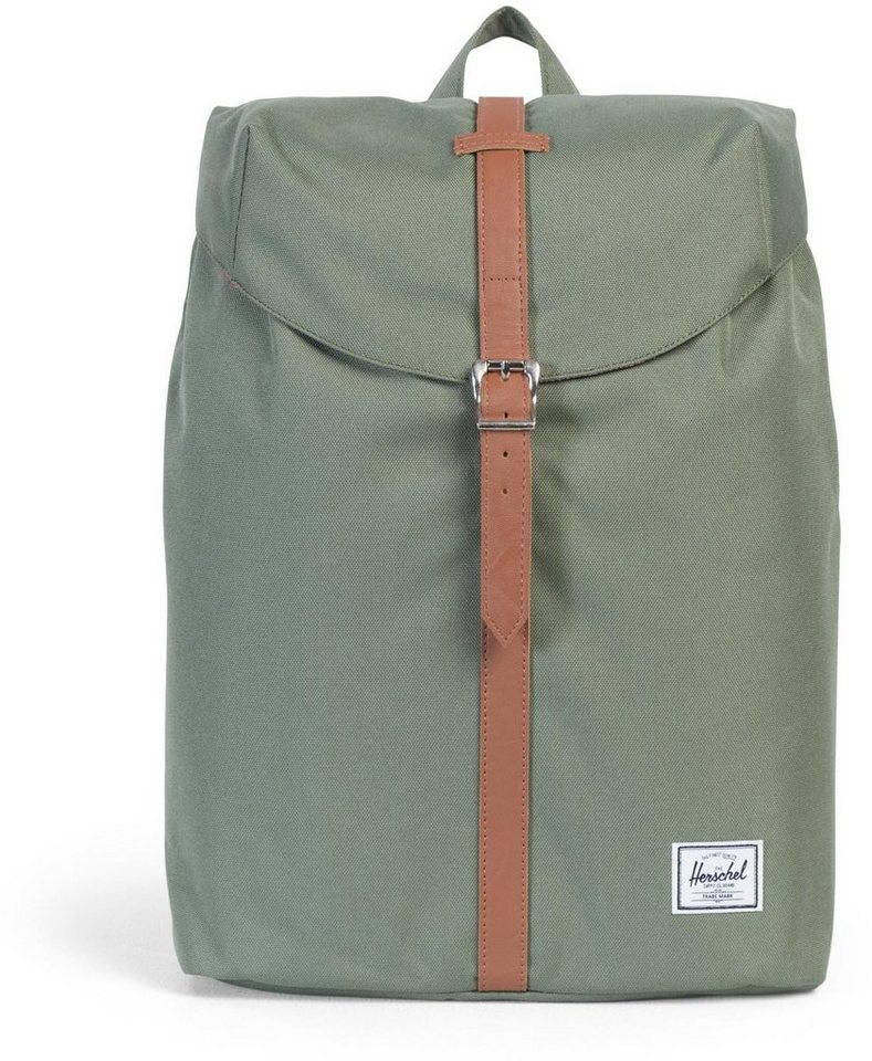 Herschel Rucksack mit Laptopfach, »Post Backpack, Deep Lichen Green Mid Volume« in Deep Lichen Green