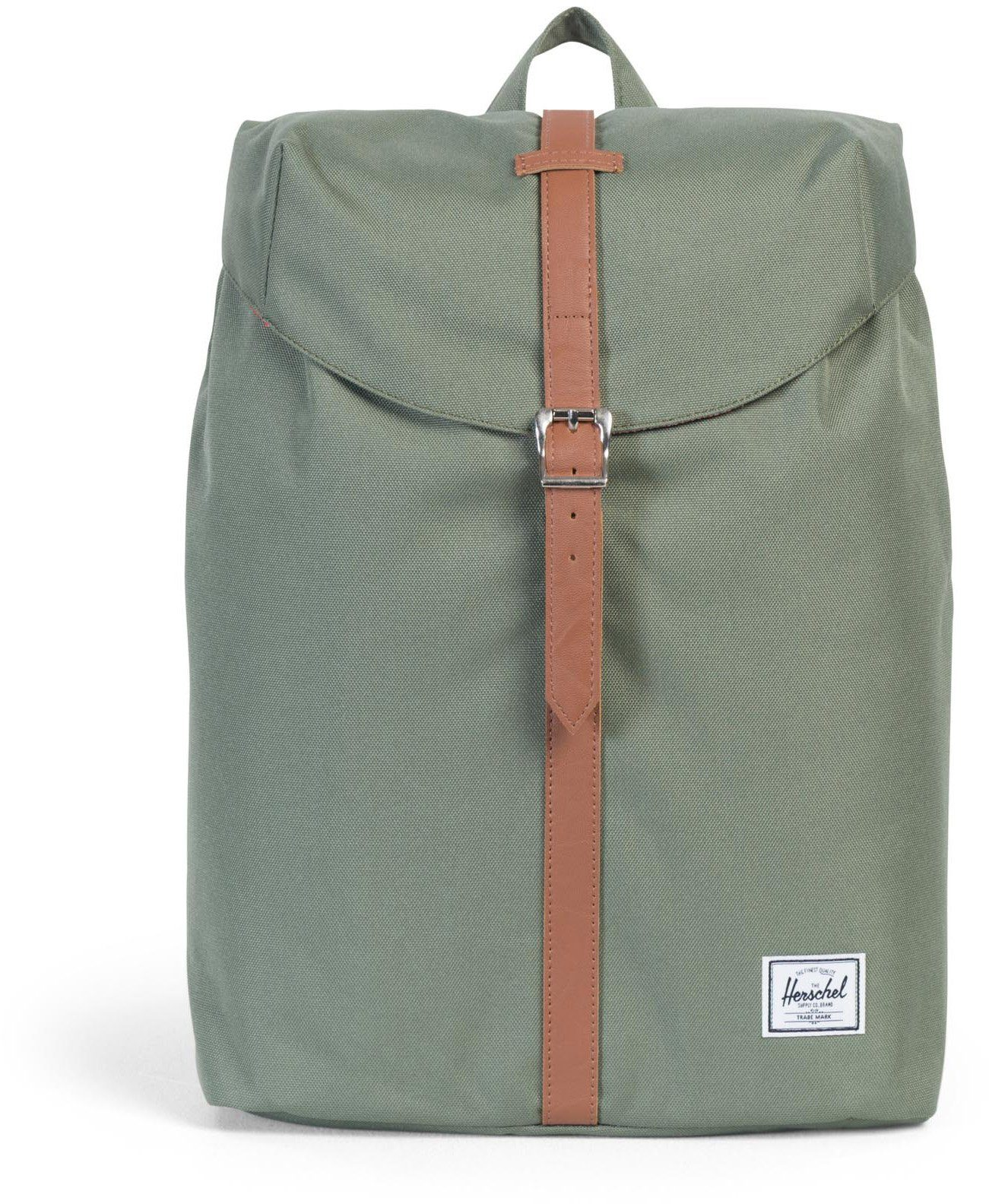 Herschel Rucksack mit Laptopfach, »Post Backpack, Deep Lichen Green Mid Volume«